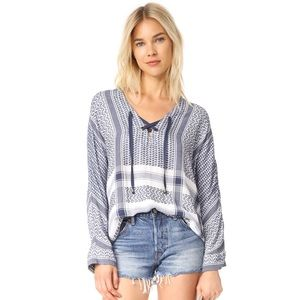 Anthro Rails Lily Lace Up Blouse / Tunic